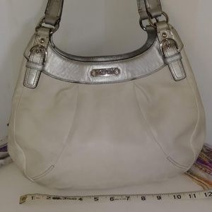 1 of 2 - Off White Coach Satchel Bag
